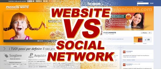 Meglio avere un sito internet o una pagina Facebook?