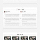 Tema per sito Wordpress per matrimonio a singola pagina