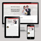Tema per sito Wordpress one page per matrimonio responsive design