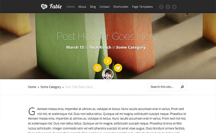 Questa è la proposta di default, per il tuo sito internet WordPress con il tema Fable