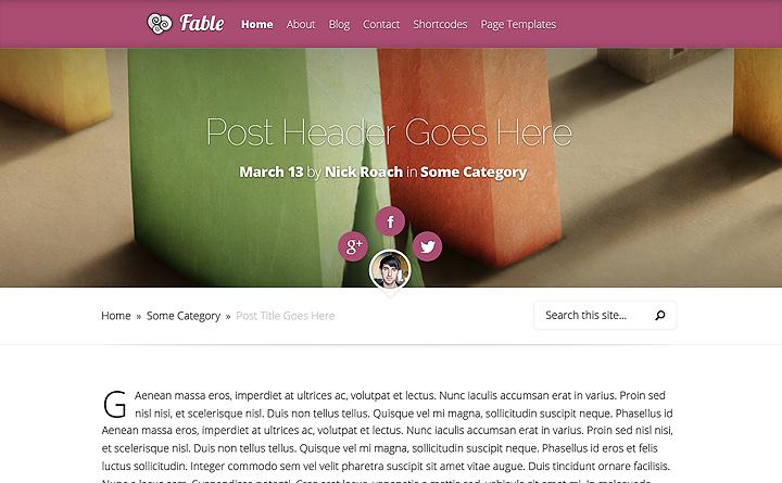 Fable è un'elegante tema WordPress per la tua