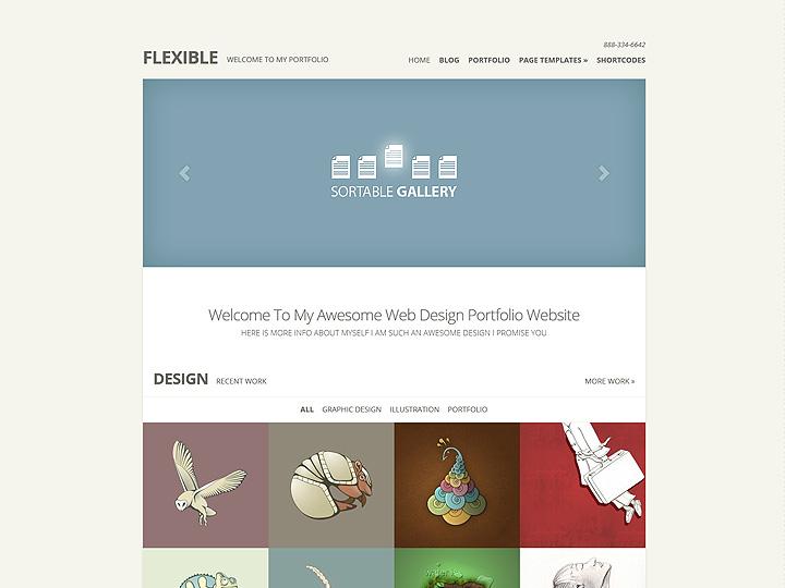 Il tuo sito web con un layout ordinato e professionale e colori neutri