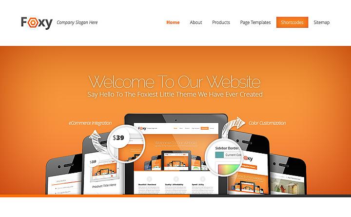 Ecco la bellissima versione arancio (siamo di parte!) del tema WordPress Foxy