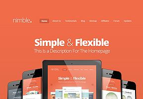 Nimble Theme Wordpress - Tema modello per realizzare il tuo sito internet