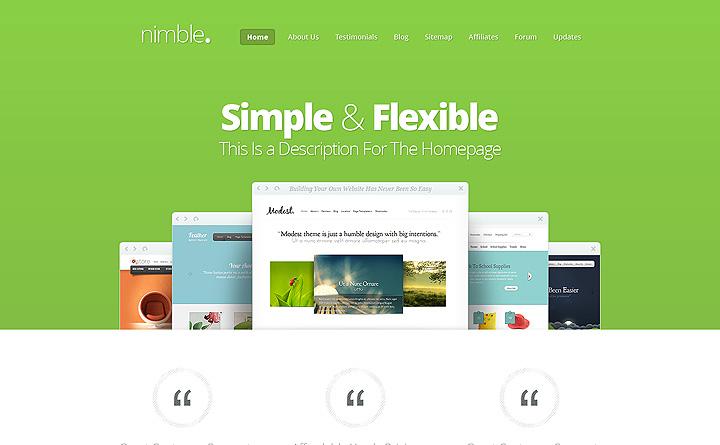 Nimble è un tema Wordpress dinamico, giovane ma equilibrato. Per te?!